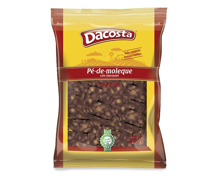 Pé de Moleque Com Chocolate